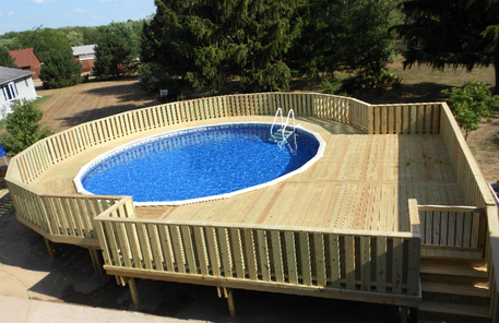 Above Ground Pool Deck Builder Ma